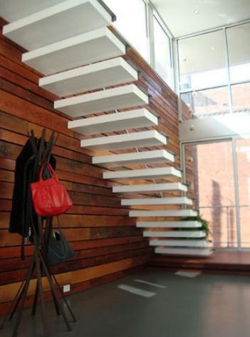 Aktion kragarmtreppe for Escaleras minimalistas interiores